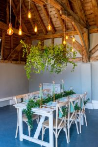 styled shoot greenery tablescape